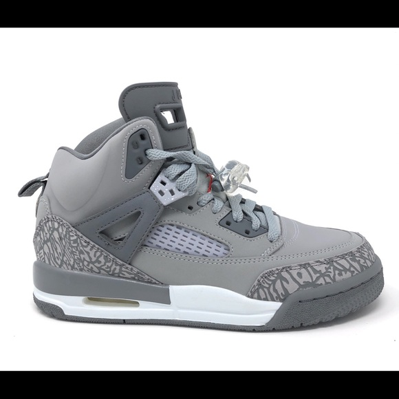 859e64767ce7 Nike Air Jordan Spizike BG GS Wolf Grey Red Shoes